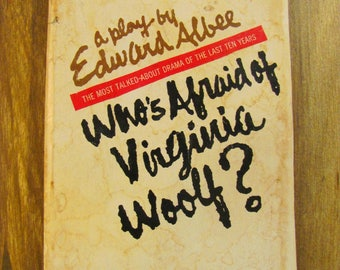 Vintage Paperback Book Who's Afraid of Virginia Woolf? Edward Albee Play Movie Fiction Elizabeth Taylor James Mason Drama Guilt Frustration