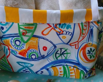 NEW Picasso Fish  Reversible  Beach Bag-Large Beach Bag-Tote-Indoor Outdoor-Tote