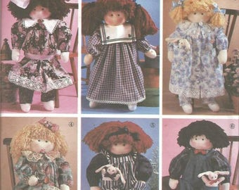 Stuffed Doll and Clothes Soft Sculpture Doll 22 Inches Simplicity 8688 Uncut Factory Folds Doll Sewing Pattern Doll Clothes Sewing Pattern