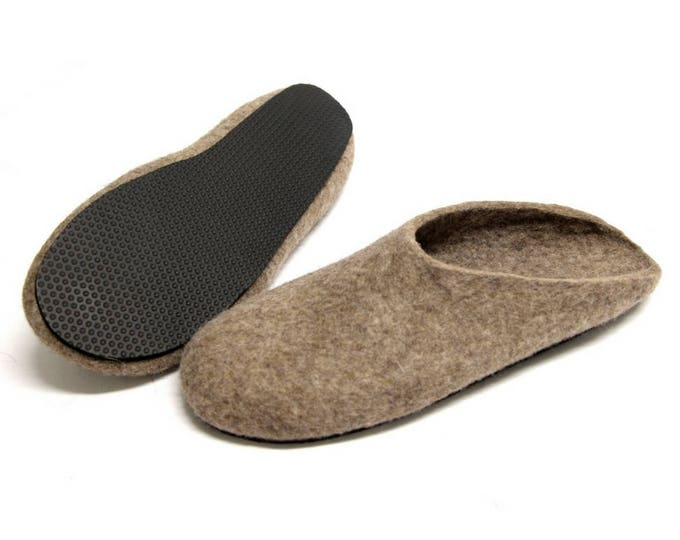 House Slippers Men, Men Felted Slippers, Felt Wool Clogs, Boiled Wool Clogs, Woolen Slippers, Slippers For Men, Eco-Friendly Wool, Dad Gifts