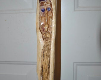 Hand CarvedWizard of the Woods Walking Stick