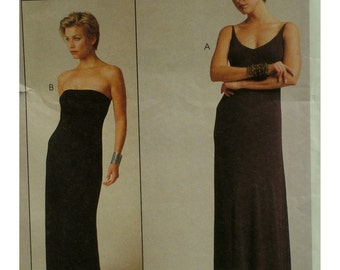 Strapless Evening Gown Pattern, Lida Biday, Stretch Fabric, Close Fitting, Straps/Strapless, McCalls No.9379 UNCUT Size 14 16 18