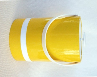 "Be ""That Girl"" with this Vintage Yellow and White Georges Briard Ice Bucket Super 1960s Marlo Thomas Flashback"