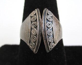 925 Sterling Silver Modernist Ring - Vintage, Size 8 3/4