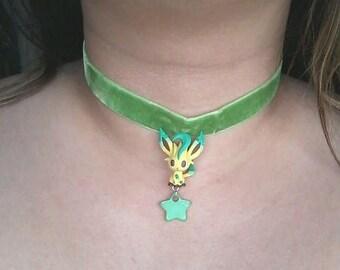 Pokémon Choker - LEAFEON Necklace - Figure necklace, Pokemon GO