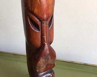 Vintage Wood Tiki Head