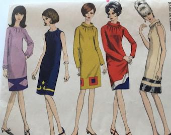 Vogue 6960 Mod 1960's Dress