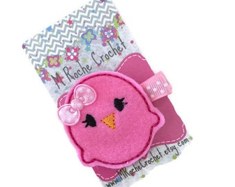 Valentine hair clip, Valentine felt clip, hair clip, baby hair clip, bird hair clip, toddler hair clip, hair accessory, baby barrettes