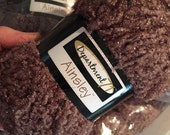 Free Shipping Discount Yarn Medium Brown Yarn w Sparkle for Knit or Crochet Projects, Destash Yarn Batch Department 71 Ainsley Mocha Brown