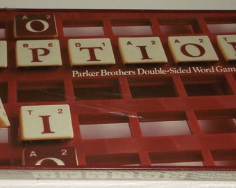 Vintage 1983 NOS Factory Sealed Option Double-Sided Word Game - Parker Brothers