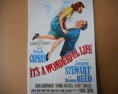 Magnet- It's a Wonderful Life movie poster magnet James Stewart Donna Reed Frank Capra