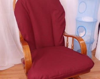 Nursery Glider Rocker SlipCover -Burgundy wine  Covers for your cushions