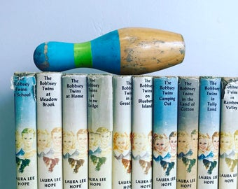 The Bobbsey Twins Books Instant Library Collection Decorative Books Photography Props Vintage Book Set Blue Set of 13 HC w/DJ