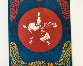Janis Joplin Big Brother and the Holding Company Fillmore Concert Postcard BG 115 Orig Psychedelic San Francisco 1968