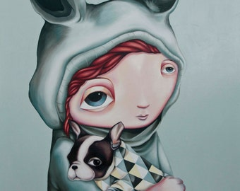 Two of a Kind - A3 Limited Edition signed Pop Surrealism Fine Art Print - by Rachel Favelle