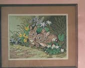 Woodland Bunnies Needlepoint Kit From the Heart