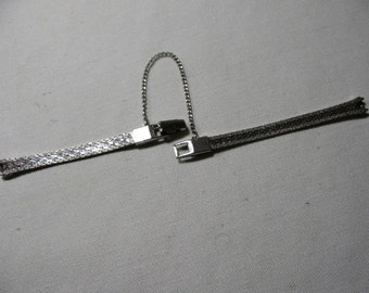 Vintage Silver Tone Delicate Watch Band
