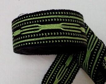 Uzbek wide handwoven cotton trim Jiyak. TR003