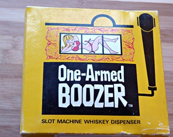 Vintage 1968 One-Armed Boozer Slot Machine Whiskey Dispenser / Bachelor Party Gift Idea / Novelty Liquor Dispenser / Slot Machine / Japan