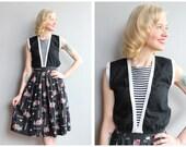 1950s Blouse // Bonnie Togs Cotton Blouse // vintage 50s blouse