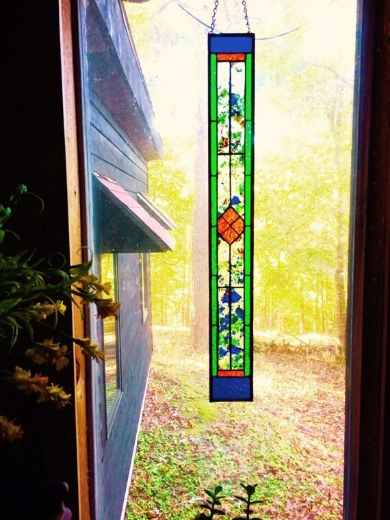 Nouveau vitrail l gant panneau cadeau art d coration vitrail for Decoration fenetre vitrail