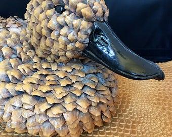 Vintage Pine Cone Duck made by Stanard Marken