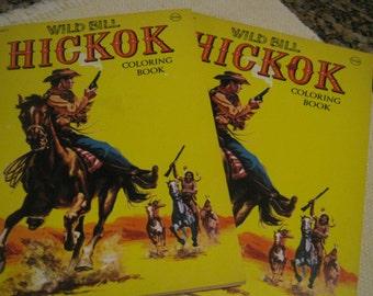 Wild Bill Hickok Coloring Books 2 Unused