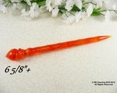 NEW Hair Stick Longer Length Red Orange Fire Tourmaline Acrylic