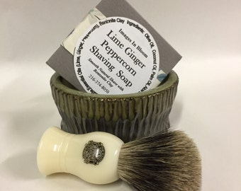 Pure badger handcrafted shave kit