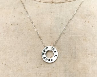 Mom Est. Disc Personalized Necklace