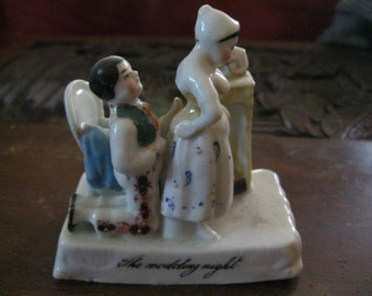 "VICTORIAN China FAIRING Whimsical FIGURINES ""The Wedding Night"""