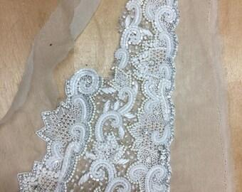 VINTAGE Bridal  Embroidered/Beaded Trim