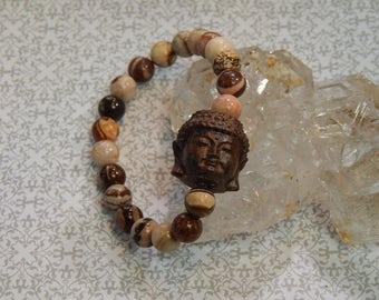 Buddha & Jasper Bead Wrist Malas!!!!