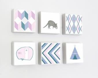 boho southwestern nursery art -camping wall art- choose 6 designs- gender neutral baby- southwest camping nursery decor, redtilestudio