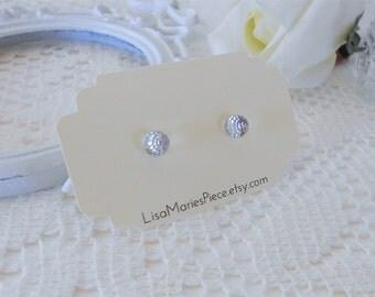 Swarovski Studs, Swarovski Crystal Dome Earrings, Crystal Clear Studs, Swarovski Fireball Crystals, Ball Studs, Glass Stud Earrings