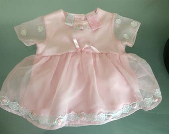 Vintage Little by. Little Baby Pink Dress Sz 12 Mos