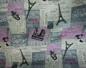 """Fabric - Romantic paris classical purfume - 1 yard - 2 colors - paris fabric,Check out with code """"5YEAR"""" to save 20% off"""