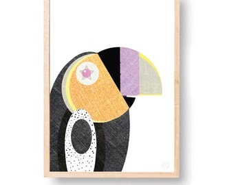 THE HAPPY TOUCAN Art Print with Free Aus Shipping