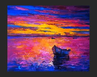Oil Painting Original Painting Abstract Painting Abstract Art Canvas Art Large Art Wall Art Canvas Painting Large Painting Sunrise