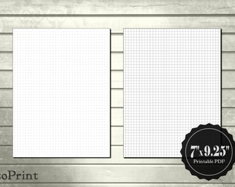 A6 Travelers Notebook Insert Dotted Grid Graph Paper Lined