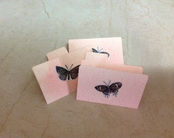 Tiny Manila Folders for Crafting Scrapbooking, Mixed Media