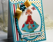 """You Are Special To Me Hadmade Card - 3D Greeting Card - 4.25 x 5.5"""" Thinking of You Card  Notecard Blank - OOAK"""