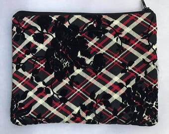 Plaid pouch - Flocked Edition