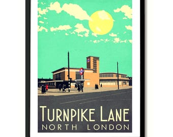 Turnpike Lane North London Art Print,