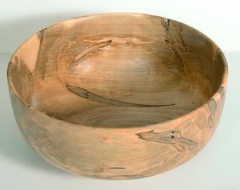 Handturned Wood Bowl, Ambrosia Maple Bowl, Salad Bowl, Food Safe, Wedding Gift
