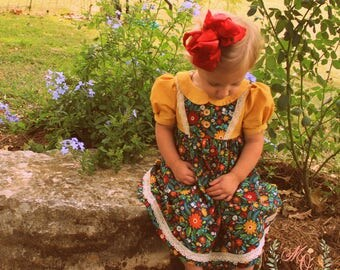 Annie's Back to School Vintage Inspired Dress sizes 18m-8yrs