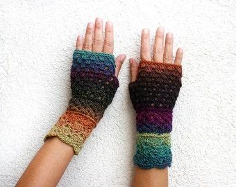Unique crochet fingerless gloves, Crochet Fngerless gloves, Fingerless gloves women, Arm warmers, Fingerless lace gloves, Crochet mittens
