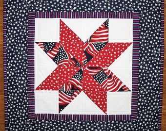 July 4th Wall Hanging or Table Topper - Patriotic Year Round Independence Day Stars and Stripes