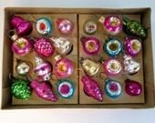Vintage Micro Miniature Indent Bell Pine Cone Ornaments, Mini Dollhouse Christmas Tree Ornaments, Kawaii Christmas Xmas Holiday Decor