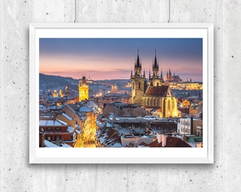 Oldtown in winter, Prague. Unframed  Fine Art Photograph